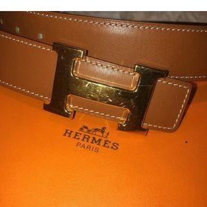 Hermès H Reversible Belt Size 85
